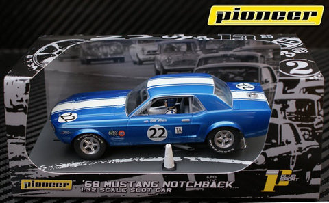 Pioneer 1968 Ford Mustang Notchback #22 - Bill Maier DPR 1/32 Scale Slot Car P010