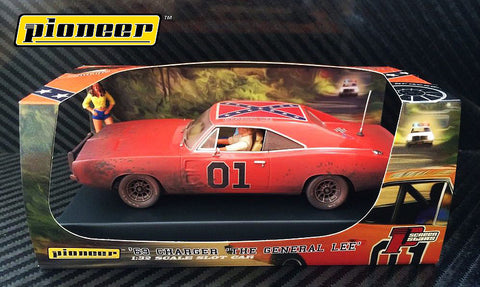 "Pioneer ""The General Lee"" Dirty 1969 Dodge Charger DPR 1/32 Scale Slot Car P017"