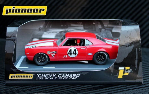 Pioneer 1968 Chevrolet Camaro Z-28 #44 Club Sport DPR 1/32 Scale Slot Car P033