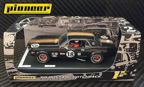 Pioneer 1968 Ford Mustang Notchback #18 - Pete Jones DPR 1/32 Scale Slot Car P035