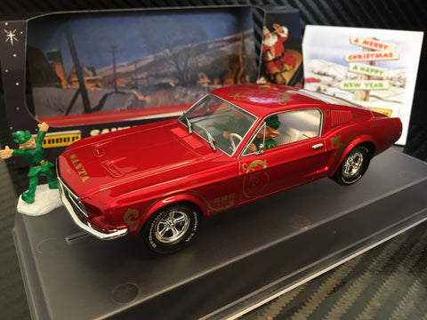 "Pioneer ""Santa's Stang"" Ford Mustang 390 GT Dealer 1/32 Scale Slot Car P037-DS"