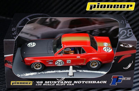 Pioneer 1968 Ford Mustang Notchback #28 - Dean Gregson DPR 1/32 Slot Car P039