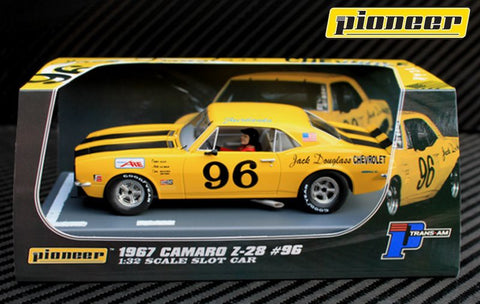 Pioneer 1967 Chevrolet Camaro Z-28 #96 Historic T/A DPR 1/32 Scale Slot Car P041