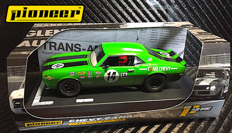 Pioneer Green 1968 Chevrolet Camaro #14 12hr Enduro DPR 1/32 Scale Slot Car P044