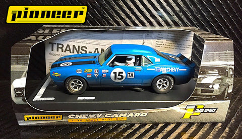 Pioneer Blue 1968 Chevrolet Camaro #14 12hr Enduro DPR 1/32 Scale Slot Car P045