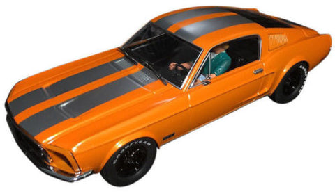 Pioneer Solar Orange 1968 Ford Mustang Fastback DPR 1/32 Scale Slot Car P054