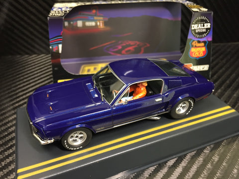 Pioneer Midnight Blue 1968 Ford Mustang Fastback DPR 1/32 Scale Slot Car P055-DS