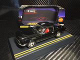 Pioneer Jet Black 1968 Ford Mustang Fastback DPR 1/32 Scale Slot Car P056