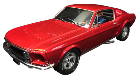 Pioneer Candy Red 1968 Ford Mustang Fastback DPR 1/32 Scale Slot Car P057