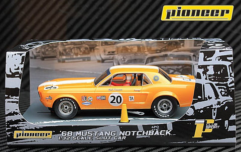 Pioneer 1968 Ford Mustang Notchback #20 - Bob Kramer DPR 1/32 Scale Slot Car P065