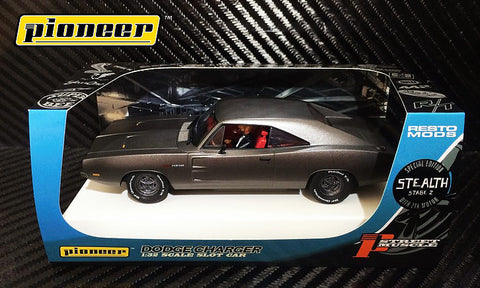 Pioneer Gray Steath 1969 Dodge Charger 426 Hemi DPR LE 1/32 Scale Slot Car P092