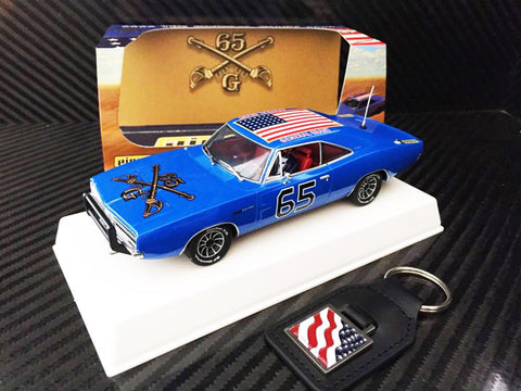 "Pioneer ""The General Grant"" Blue 1969 Dodge Charger DPR 1/32 Scale Slot Car P094"