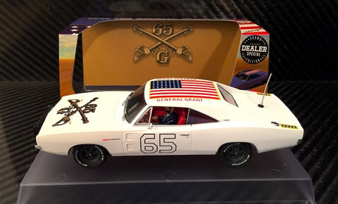 "Pioneer ""The General Grant"" White 1969 Dodge Charger DPR 1/32 Slot Car P097-DS"