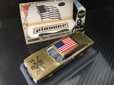 "Pioneer ""The General Grant"" Gold Limited Dodge Charger DPR 1/32 Slot Car P098-DS"