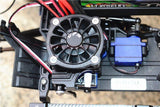 GPM Racing Traxxas TRX-4 Black Aluminium Motor Cooling Fan W/ Easy Switch TRX4051FAN-BK