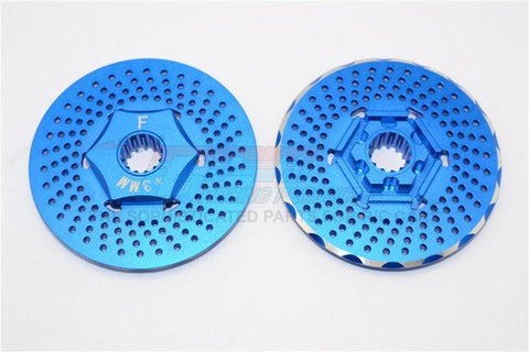 GPM Racing Traxxas X-Maxx Blue Aluminum +3mm Front Wheel Hex W/ Brake Disk TXM006F-DISK-B