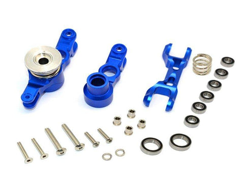 GPM Racing Traxxas X-Maxx Blue Aluminum Steering Rack Assembly TXM048N-B