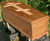 Hand Crafted Oak Coffin