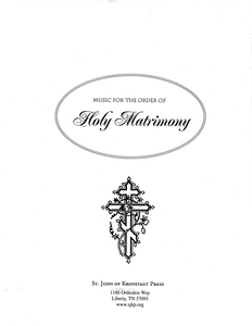 Music for the Order of Holy Matrimony
