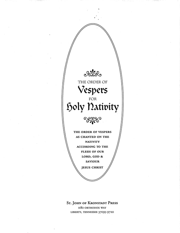 Music for Vespers & Liturgy on the Eve of Nativity