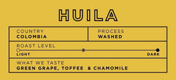 Colombia Huila 5lb bag [$49.50 with wholesale discount]