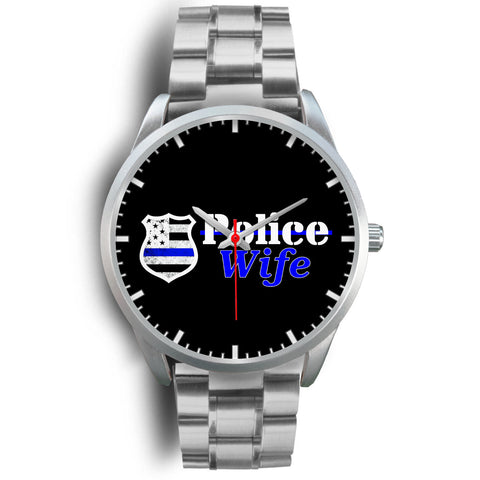 Police Wife Watch - Silver Stainless
