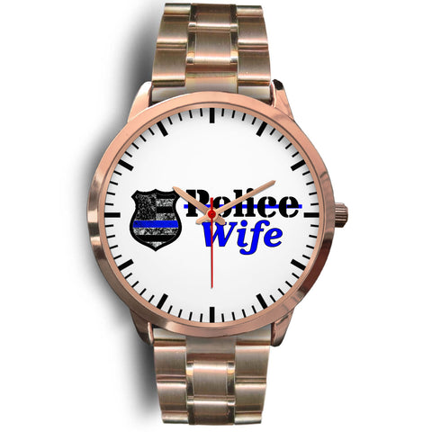 Police Wife Watch - Rose Gold Stainless