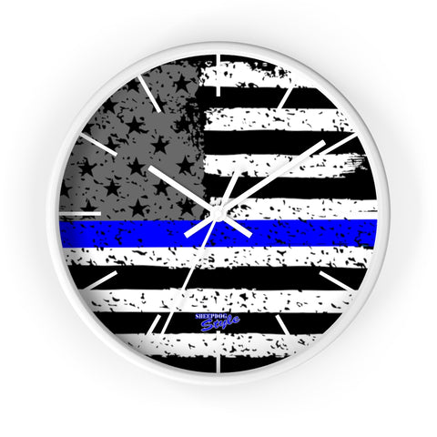 Thin Blue Line Wall clock