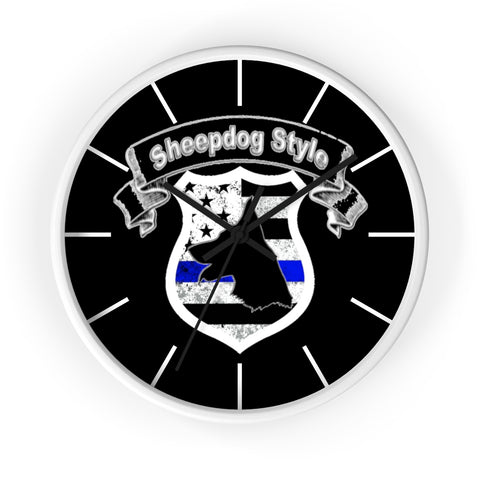 """Sheepdog Shield"" Sheepdog Style Wall clock"