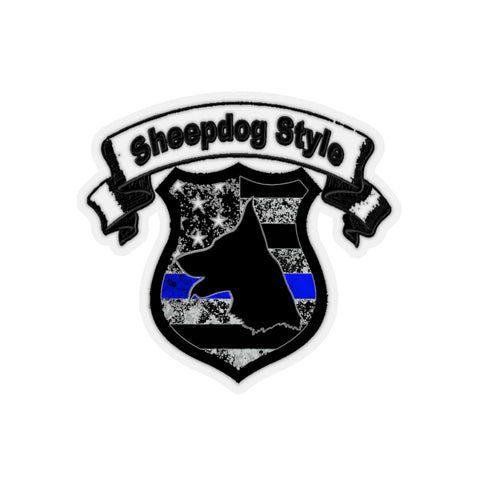 """Sheepdog Shield"" Sheepdog Style Kiss-Cut Stickers"