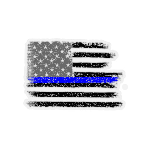 Thin Blue Line Flag Kiss-Cut Stickers