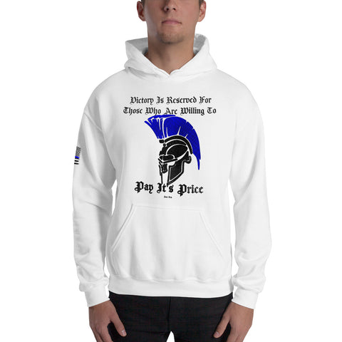 """Spartan Victory"" Sheepdog Style Hooded Sweatshirt"