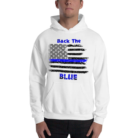 Back the Blue Hooded Sweatshirt