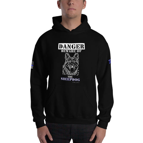 """Beware of the Sheepdog"" Sheepdog Style Hooded Sweatshirt"