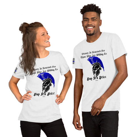 """Spartan Victory"" Sheepdog Style Short-Sleeve Unisex T-Shirt"