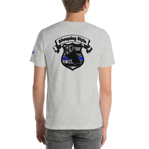"""Sheepdog Shield"" Sheepdog Style Short-Sleeve Unisex T-Shirt"