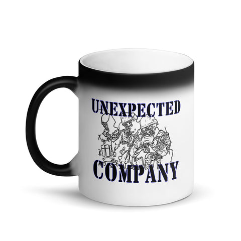 """Unexpected Company"" Sheepdog Style Matte Black Color Changing Mug"