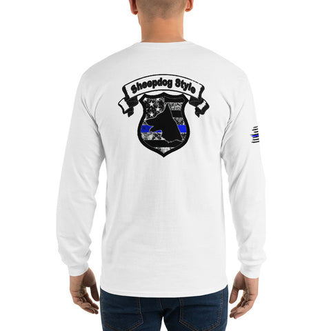 """Sheepdog Shield"" Sheepdog Style Long Sleeve T-Shirt"