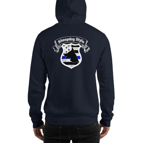 """Sheepdog Shield"" Sheepdog Style Hooded Sweatshirt"
