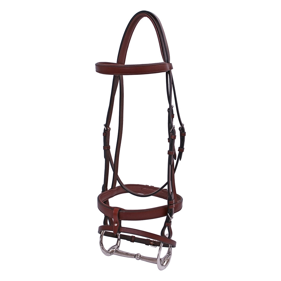 Platinum Flat Padded Hanoverian Bridle