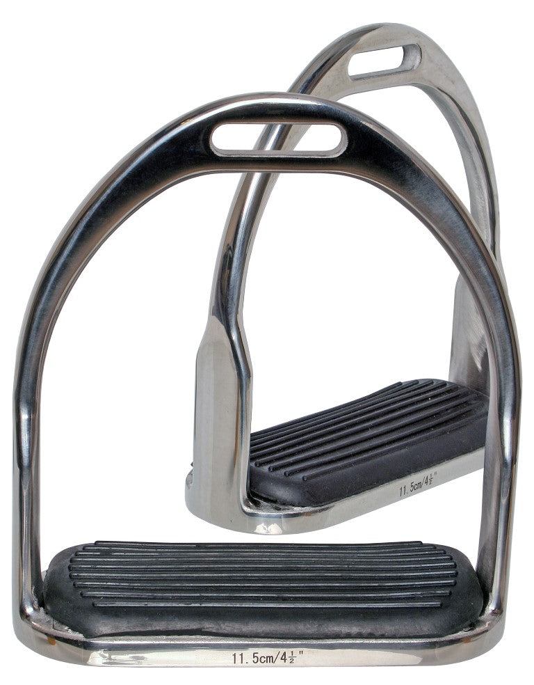 Stainless Steel Stirrups with Rubber Treads