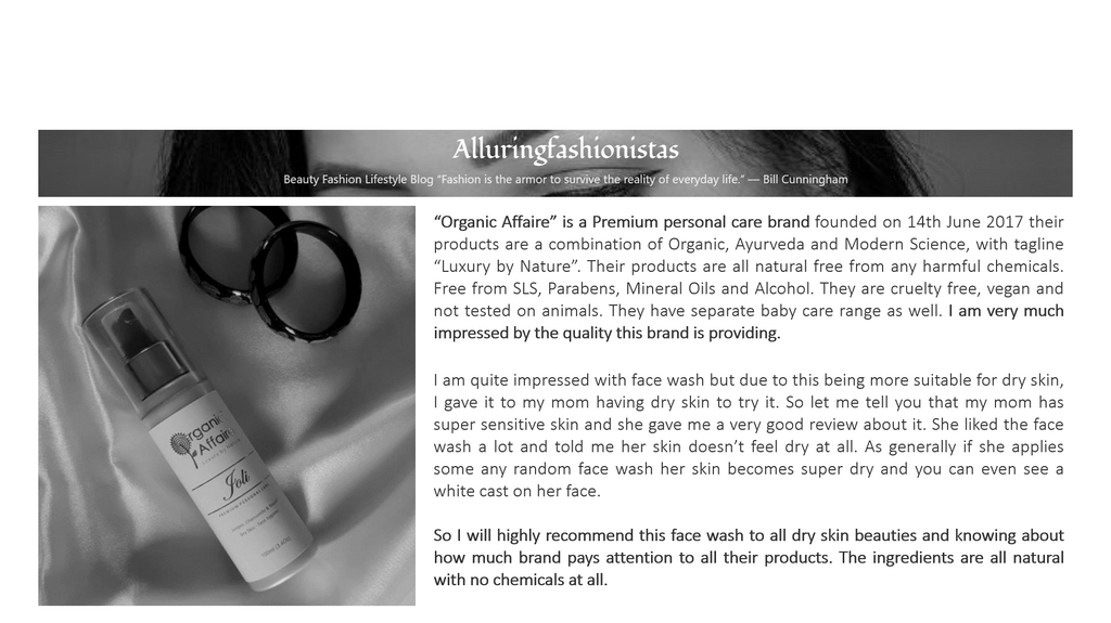 I am highly impressed with the face wash (Joli) - Blogger Nishtha Singh