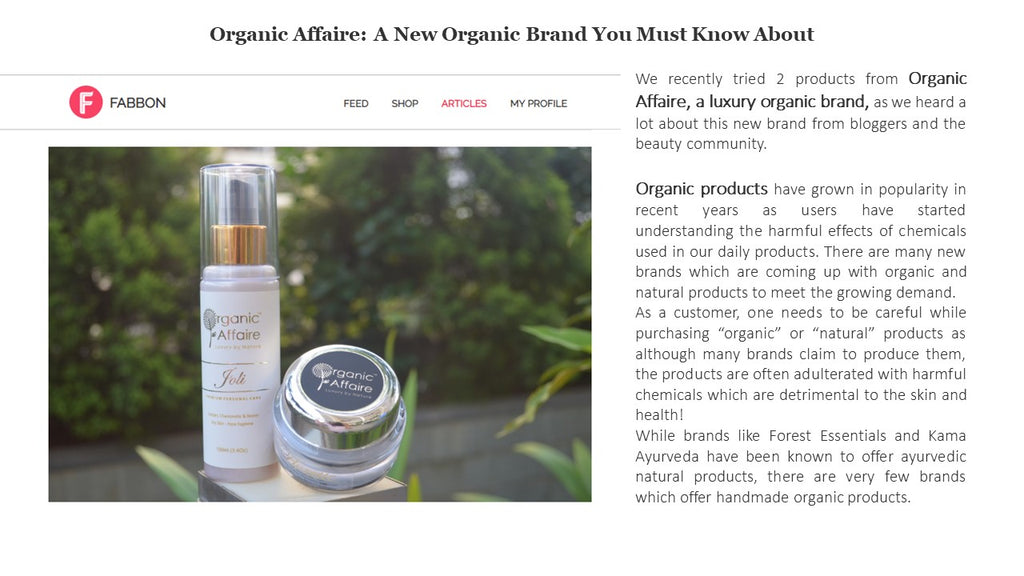 Organic Affaire by FABBON