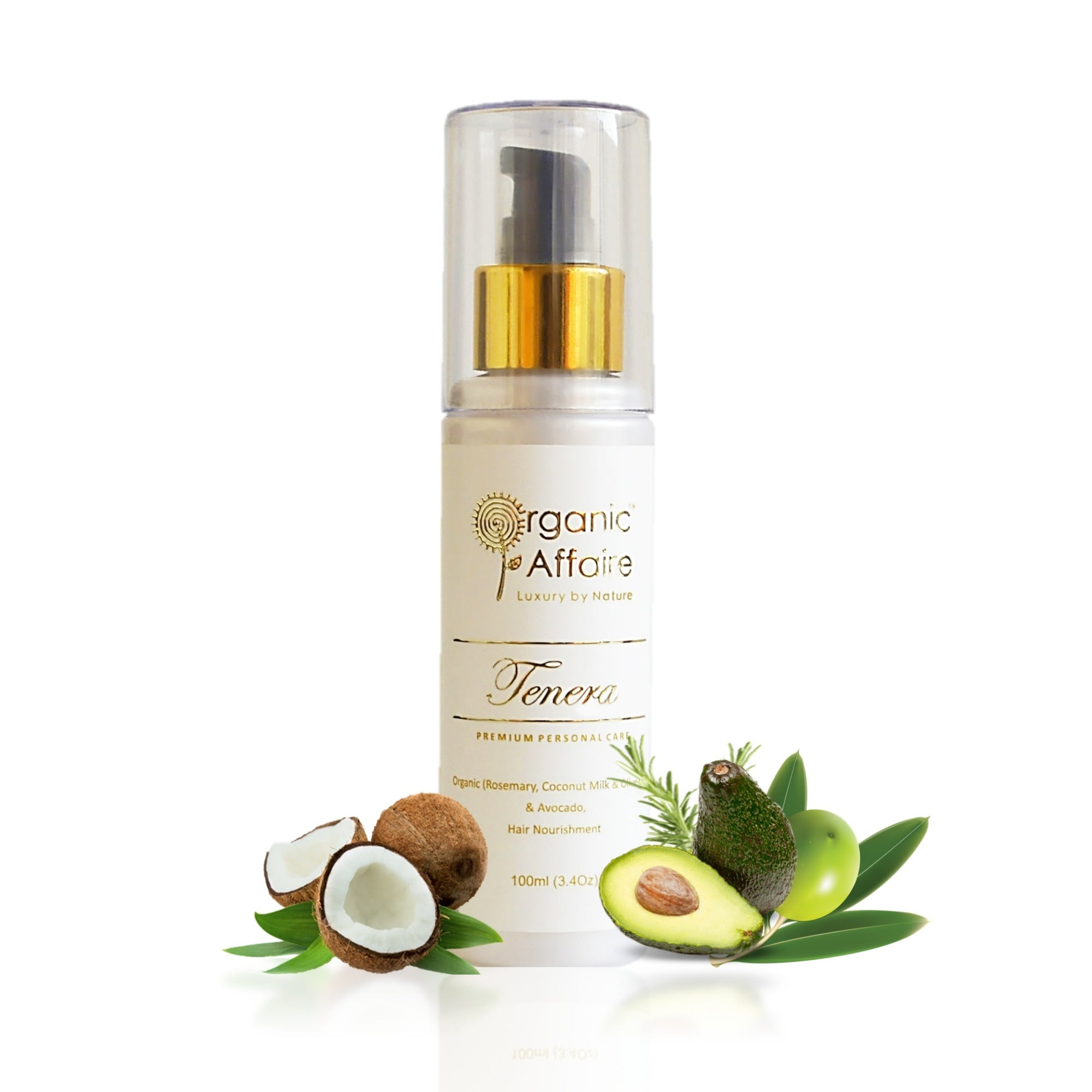 Hair serum for frizzy curly hair avocado olive by organic affaire