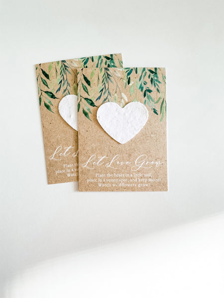 growNOTES™ Plantable Favors - Greenery Drop