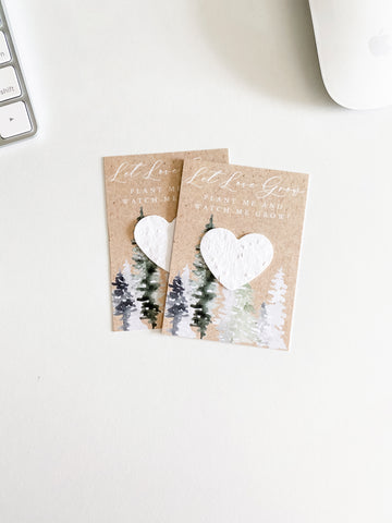 growNOTES™ Plantable Favors - Forest Love