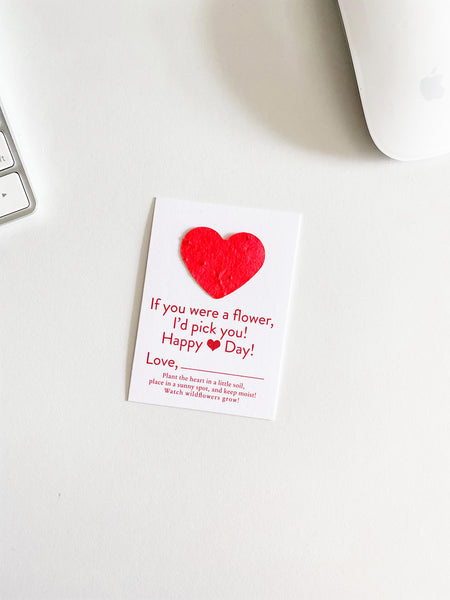 growNOTES™ Plantable Valentines - White