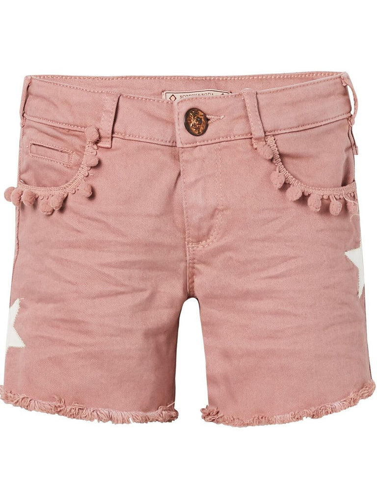 Scotch R'Belle Dusty Rose 5 pocket Shorts with star