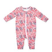 Marquise Floral Zipsuit - Pink - MQS279