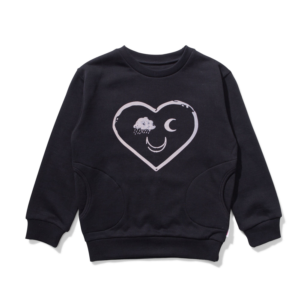 Missie Munster Free Fleece Sweat Shirt - Soft Black